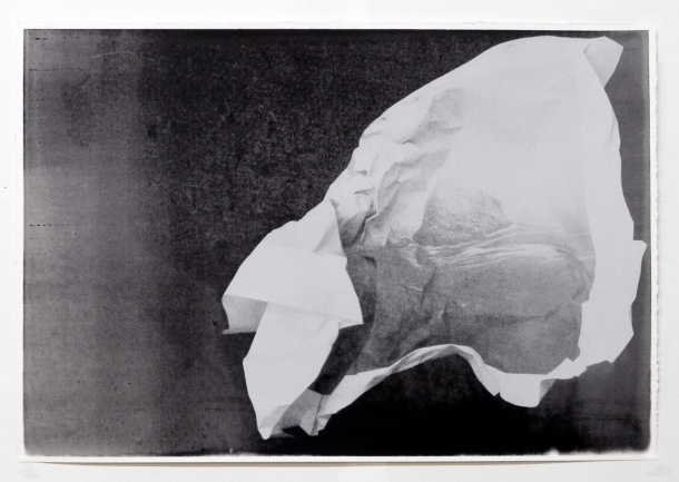 """Christopher Carroll,  Watkins Project (untitled #1), serigraph and acrylic on paper, 15.5"""" x 22.5"""", 2013"""