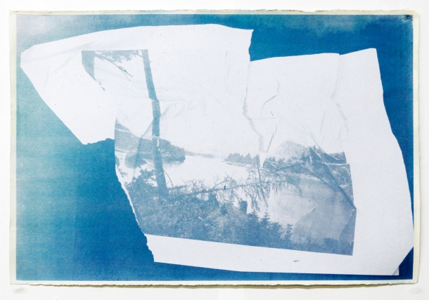 "Christopher Carroll, Watkins Project (untitled #5), serigraph and acrylic on paper, 15.5"" x 22.5"", 2013"