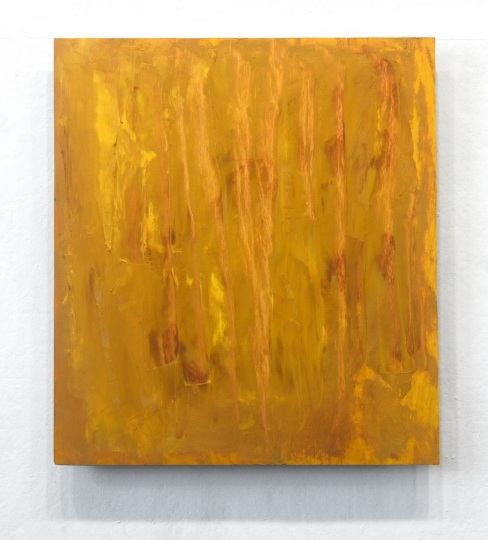 """Penn Young, Her Mother After, oil on plywood, 28"""" x 25"""", 2013."""