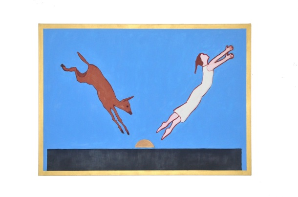 """Penn Young, The Sacrifice As Reported to Her Mother, oil on canvas, 65"""" x 91"""", 2013."""