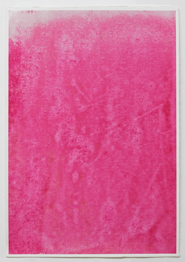 "Christopher Carroll, Untitled Abstraction #12, serigraph and acrylic on paper, 15.5"" x 22.5"", 2013,"