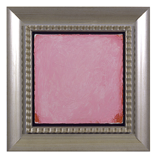 """Penn Young, Waiting for Godot, oil on canvas, faux silver gilt frame, 19 1/2"""" x 19 1/4"""" x 3"""", 2005."""