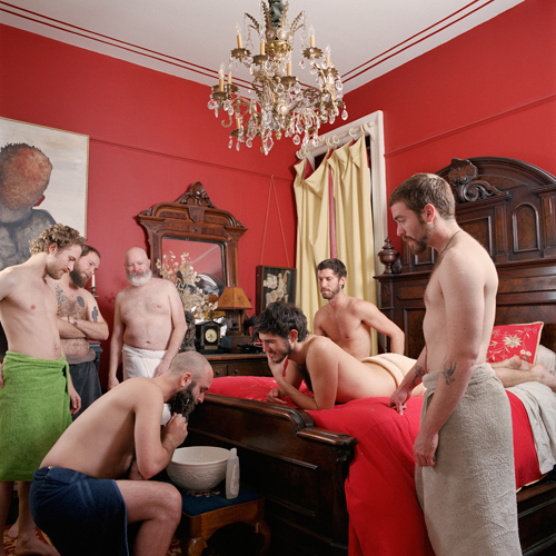 "Sean M. Johnson, Beard Washing, archival pigment inkjet print, 30"" x 30"", 2008."