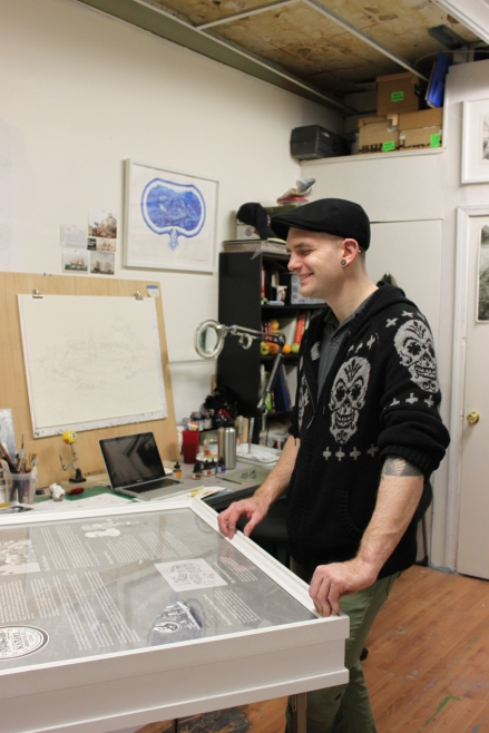 Eric Petitti in his studio
