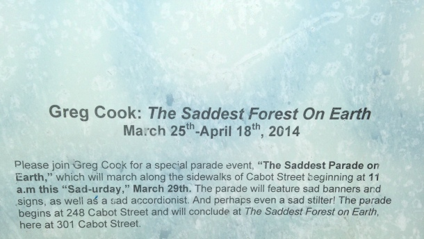 Greg Cook, The Saddest Forest On Earth