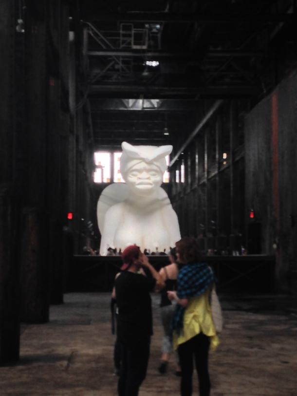 "Kara Walker, ""A Subtlety"", Domino Sugar Factory, Brooklyn, NY, 2014."