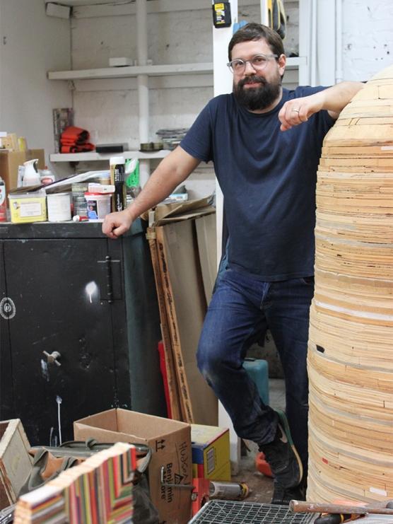 Damien Hoar de Galvan, studio view