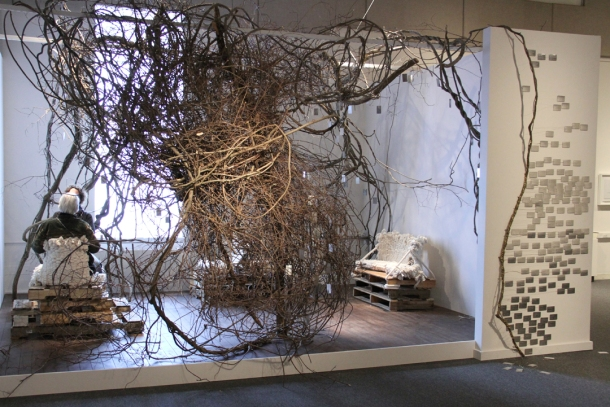 Andi Sutton, Gardens of the Future: Conversation in Memorial, Traveling Scholars Awardees 2010, School of the Museum of Fine Arts, Boston, 2012.