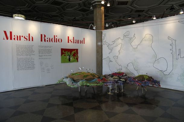 Plotform, Marsh Radio Island installation, 808 Gallery, Boston University, Boston, MA, 2013.