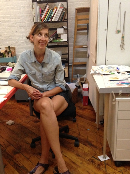 Sara Jones in her studio